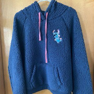 Disney Stitch Navy Blue Hooded Sweatshirt Kids XL